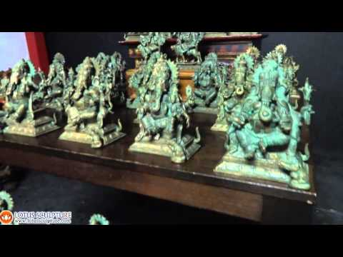 Complete Bronze Set of the 32 Forms of Ganesh 8.5