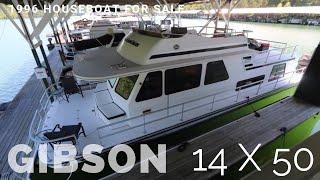 Houseboat For Sale Houseboats Buy Terry 1996 Gibson 14 X 50
