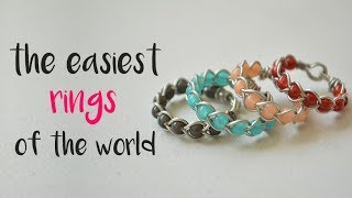 DIY How To Make Braided Wire Rings. Wire Wrapping For Begginers