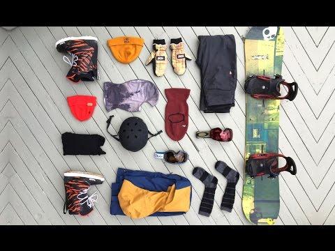 My 2017 Snowboard Gear List