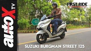 Suzuki Burgman Street Review - First Ride - autoX