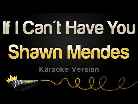 Shawn Mendes - If I Can't Have You (Karaoke Version)