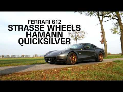 Ferrari 612 with Strasse Wheels, Hamann spoilers and Quicksilver exhaust