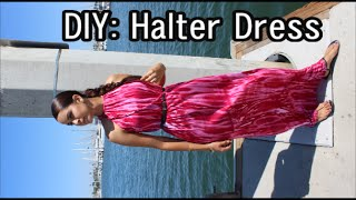 DIY: How To Easy Halter Maxi Dress