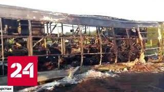 Авария в Татарстане: выжившие выбирались из автобуса через стену огня
