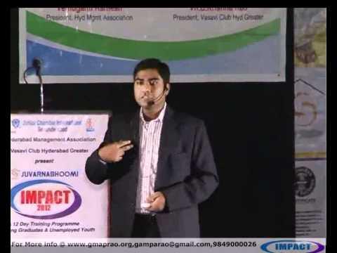 Career|Sanjay|TELUGU IMPACT Hyd 2012
