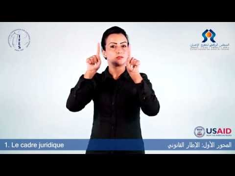 Image of the video: Electoral Lexicon in Moroccan Sign Language