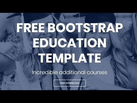 Bootstrap Education Template - Free HTML Website Templates ...
