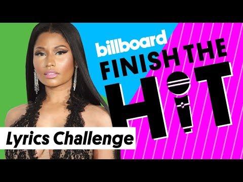 Nicki Minaj Lyrics Challenge   Finish the Hit   Billboard