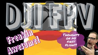 First FPV Flight _ DJI AIR UNIT_ FLYING GEPRC ROCKET PLUS! A WIN!