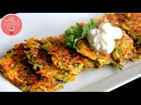 Video How to make Zucchini Pancakes - Pancake Recipe - Оладьи из цукини