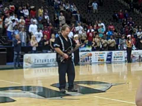 Playing the National Anthem at a Jacksonville Giants basketball game. It was broadcast on live national tv.