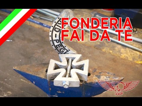 Come fare una forgia per metallo - fonderia fai da te - pezzo di moto -ep 31p3 - Roma Custom Bike