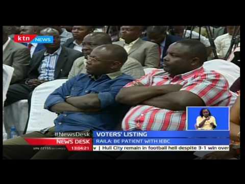 Raila Odinga urges Kenyans to be patient with IEBC