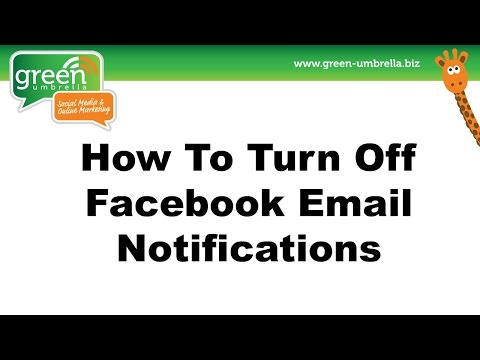 How To Turn Off Facebook Email Notifications
