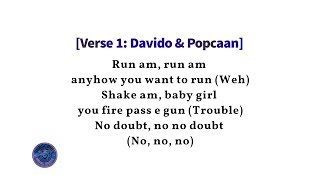 Davido Ft. Popcaan   Risky Lyrics (Lyric Video)