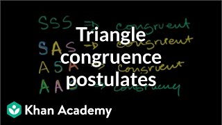 Grade 8 Math | Other triangle congruence postulates | Khan Academy