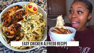COOK WITH ME: CHICKEN ALFREDO | QUICK AFFORDABLE MEAL UNDER $15!!!