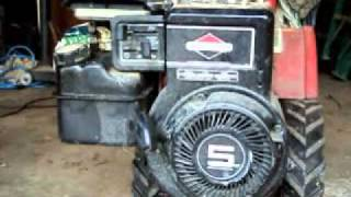 Briggs And Stratton 5 Hp Tiller Atempted  Cold Start And Problem