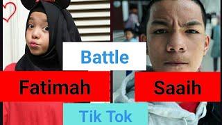 Gambar cover Battle Tik Tok Saaih Halilintar vs Fatimah Halilintar | Best TikTokers Indonesia |