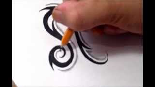 Leo Tattoos - How To Draw A Simple Tribal Star Sign