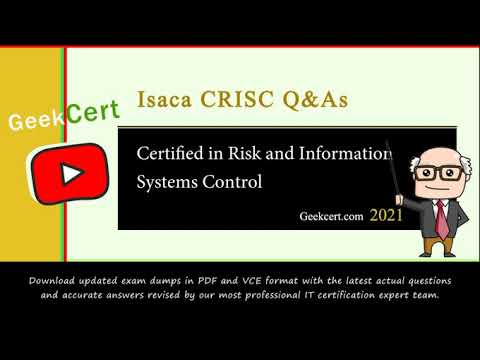 [2021.6] Latest Isaca CRISC exam questions and answers and ...