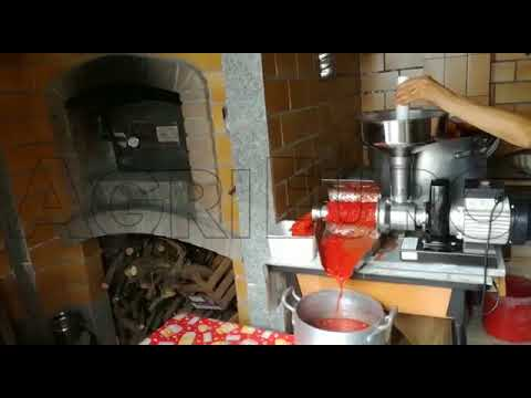 Elektrische Tomatenpresse Palumbo Pavi SM 5 INOX mit elektrischem Motor 0,5 PS 230 V