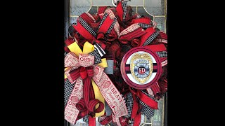 How To Make A Firefighter Themed Wreath With Wreath Decor By Dawn