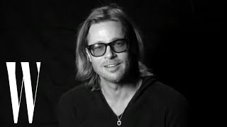Brad Pitt on Gary Oldman, Movie Deaths, and Advice from Jodie Foster | Screen Tests | W Magazine