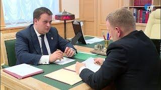 Андрей Никитин провел рабочую встречу с главой Окуловского района