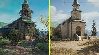 Far Cry New Dawn vs Far Cry 5 Location Early Comparison
