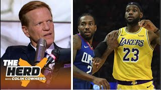 THE HERD | Ric Bucher react to Lakers def Clippers 103-101; LeBron/AD: 50 Pts, Kawhi/PG: 58 Pts