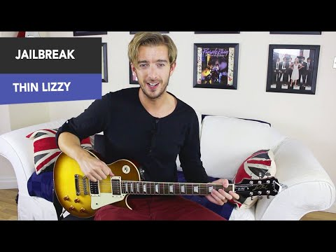 Thin Lizzy - JAILBREAK Guitar Lesson Tutorial - Easy Power chord song!
