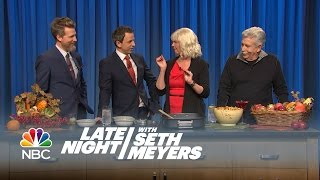 Seth And His Family Make His Moms Famous Chex Mix! - Late Night With Seth Meyers