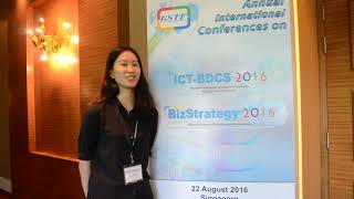 Ms. Ariana Chang at BizStrategy Conference 2016 by GSTF