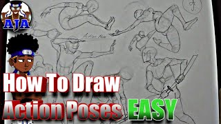 How To Draw DYNAMIC POSES EASY [PART 00]- (Introduction)