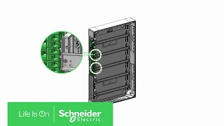 How to Install Acti9 VDIS Vertical Distribution Blocks 125A in Pragma Enclosure | Schneider Electric