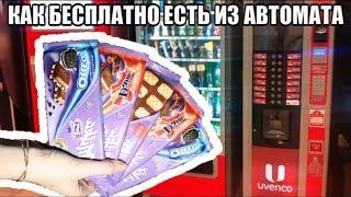 Как обмануть автомат с едой ● ПОЕСТЬ НА ХАЛЯВУ!!!