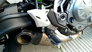 Kawasaki Z650 Akrapovic Exhaust Sound No DB Killer CAT
