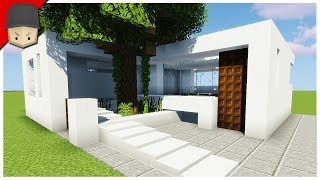 How To Build A Simple Modern House In Minecraft (Minecraft House Tutorial)