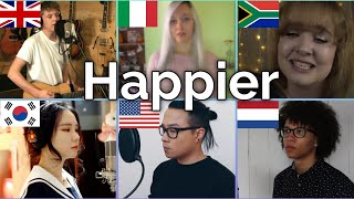 Who sang it better: Happier ( uk, south korea, italy, us, netherlands, south africa ) Marshmello