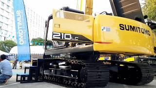 จัดเต็ม บูมยาว พาดู เครื่อง ปั้ม SUMITOMO SH210LC F-6 ห้องเก่ง ช่วงล่าง สดจริงๆ excavator EP.5828