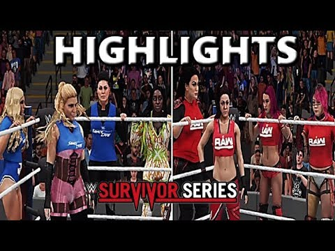 WWE 2K18 SIMULATION: WOMEN'S TEAM RAW VS TEAM SMACKDOWN | SURVIVOR SERIES HIGHLIGHTS