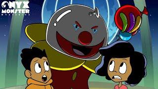 STUCK WITH A CLOWN! Onyx Monster Mysteries Episode 7   Halloween Cartoon