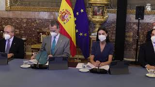 SS.MM. los Reyes en la reunión anual con los Patronatos de la Fundación Princesa de Asturias