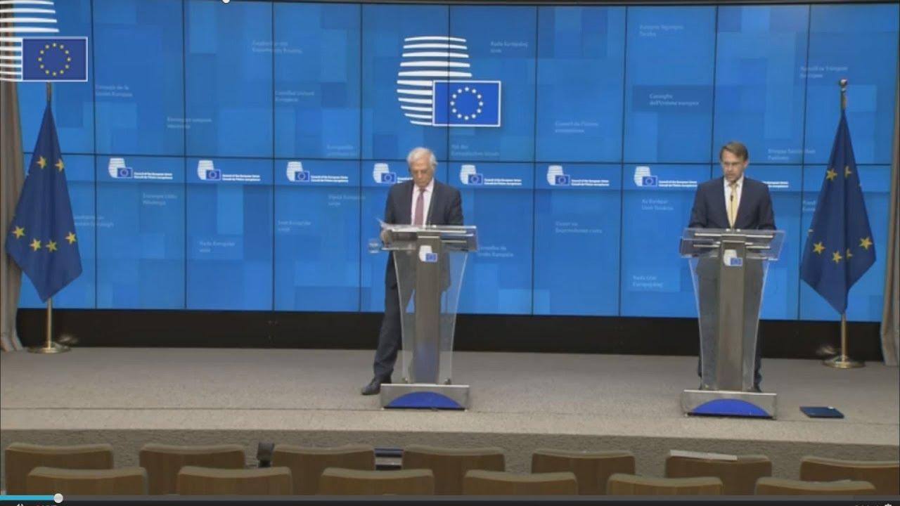 Συνέντευξη τύπου του Ύπατου Εκπροσώπου Ζ. Μπορέλ μετά τη τηλεδιάσκεψη των υπουργοί Εξωτερικών της ΕΕ