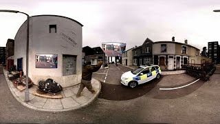 Watch a police dog catch an armed man in 360° video: Crimewatch Roadshow Special - BBC One
