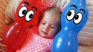 Diana Pretend Play with Baby Baloons Video for kids