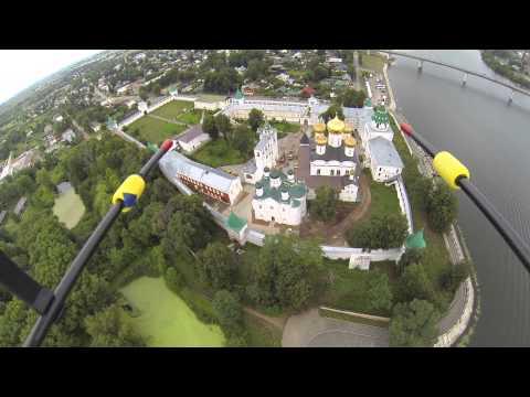 Кострома. Ипатьевский монастырь с высоты