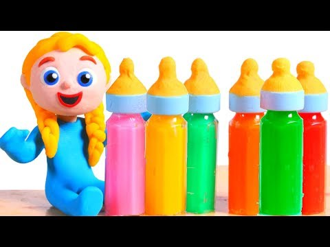 Tommy's Friend Tries New Tasty Baby Bottles 💕 Cartoons For Kids